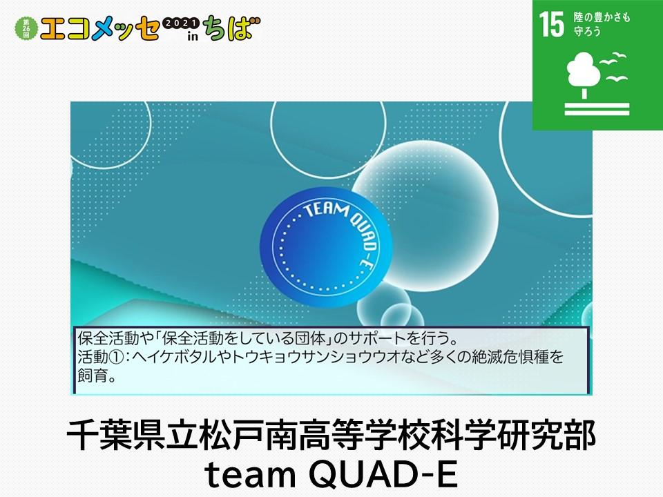 千葉県立松戸南高等学校科学研究部team QUAD-E